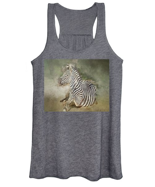 Zebra Watercolor Women's Tank Top