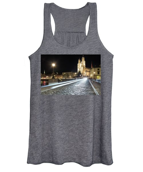 Zurich Night Rush In Old Town Women's Tank Top