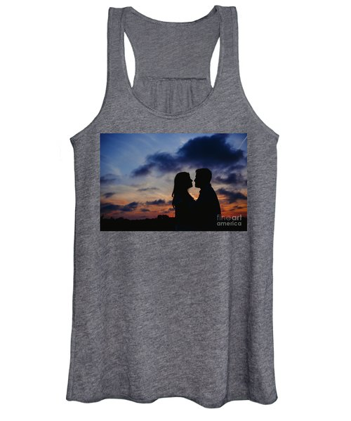 Couple With Cloud Sky Backlight Women's Tank Top