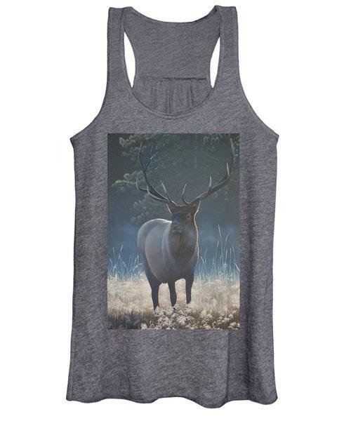 First Light - Bull Elk Women's Tank Top