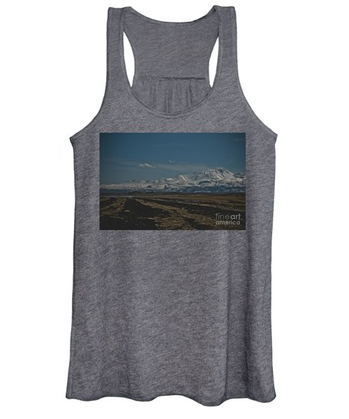 Snow-covered Mountains In The Turkish Region Of Capaddocia. Women's Tank Top