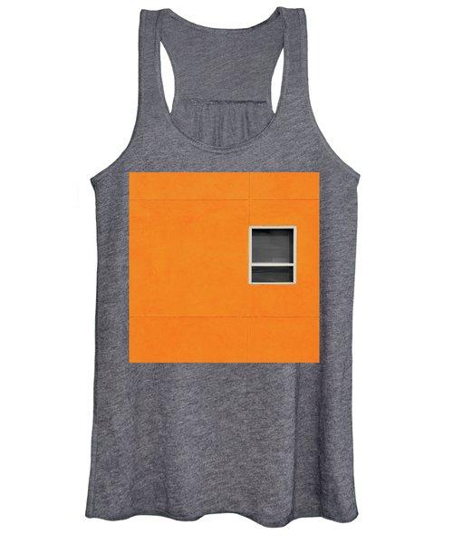 Very Orange Wall Women's Tank Top
