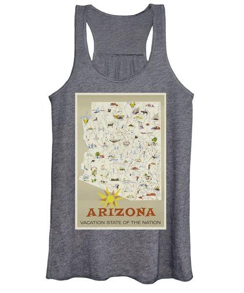 Vintage Travel Poster - Arizona Women's Tank Top