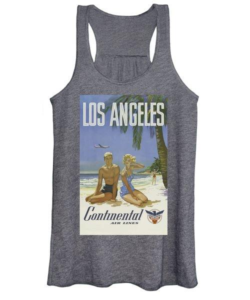 Vintage Travel Poster - Los Angeles Women's Tank Top