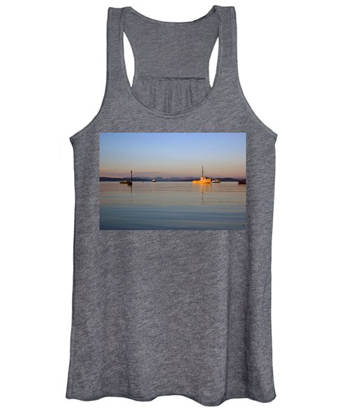 10/11/13 Morecambe. Fishing Boats Moored In The Bay. Women's Tank Top