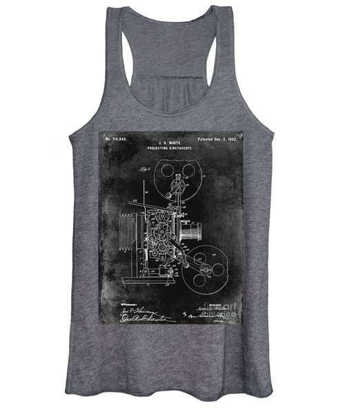 1902 Movie Projecting Patent  Women's Tank Top