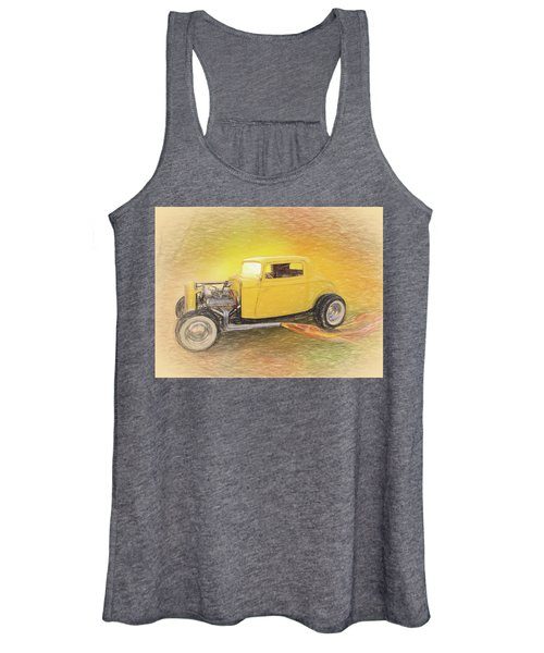 1932 Ford Coupe Yellow Women's Tank Top
