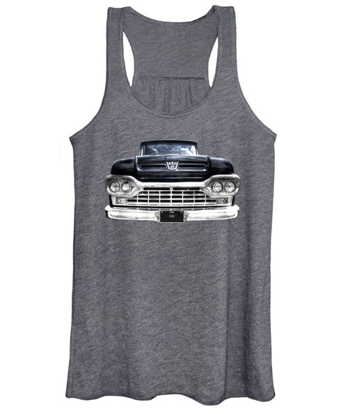 1960 Ford F100 Pick Up Head On Women's Tank Top