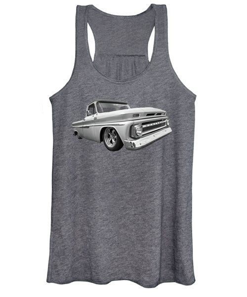 1965 Chevy C10 Truck In Black And White Women's Tank Top