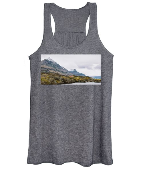 High Icelandic Or Scottish Mountain Landscape With High Peaks And Dramatic Colors Women's Tank Top