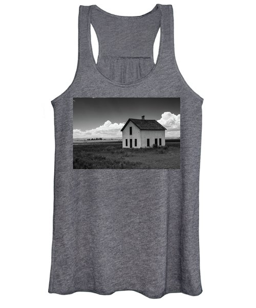 Old Abandoned House In Farming Area Women's Tank Top