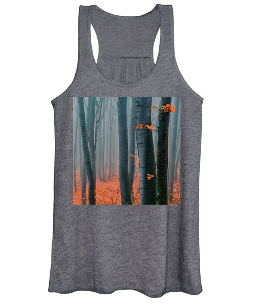 Orange Wood Women's Tank Top