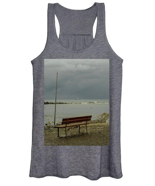 A Bench On Which To Expect, By The Sea Women's Tank Top