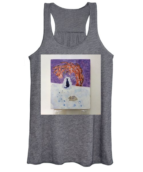 A Dog Named Novak At Home In Heaven Women's Tank Top