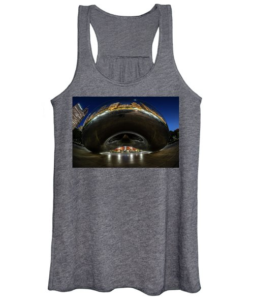 A Fisheye Perspective Of Chicago's Bean Women's Tank Top