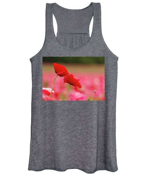 A Tale Of  Two Poppies Women's Tank Top