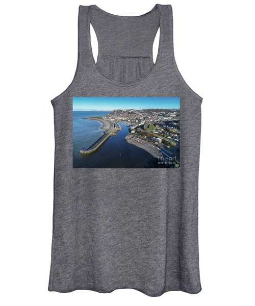 Aberystwyth Harbour From The Air In Winter Women's Tank Top