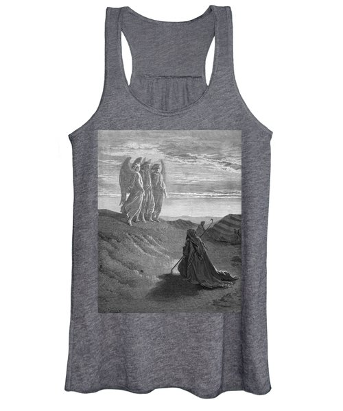 Abraham And The Three Angels, Drawing By Dore Women's Tank Top