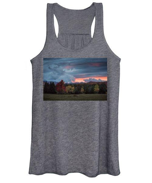 Adirondack Loj Road Sunset Women's Tank Top