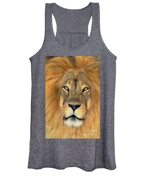 African Lion Portrait Wildlife Rescue Women's Tank Top