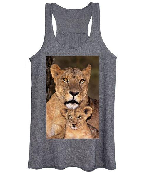 African Lions Parenthood Wildlife Rescue Women's Tank Top
