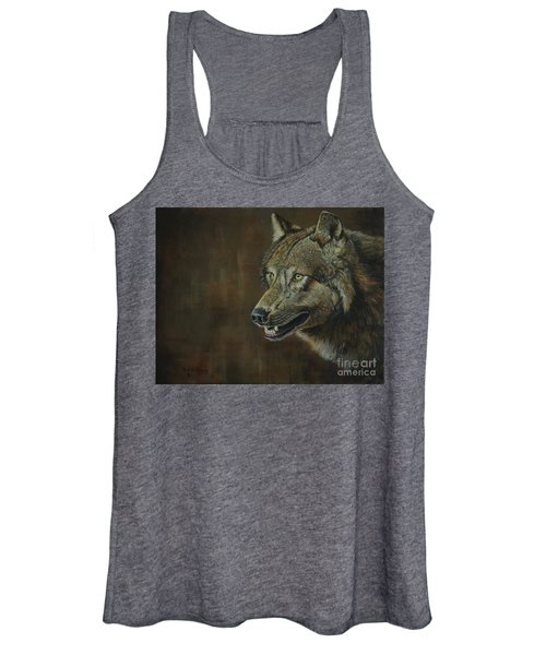 Alpha Male ......the Gray Wolf Women's Tank Top