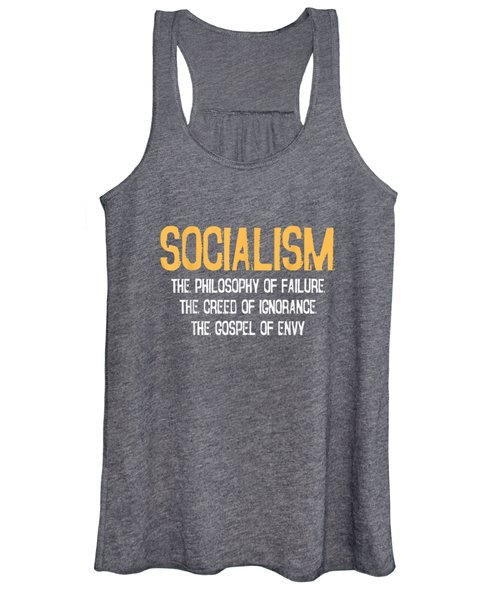 Anti-socialism Failure Envy T-shirt Winston Churchill Quote Women's Tank Top