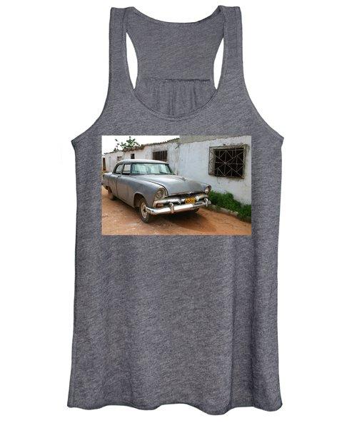Antique Car Grey Cuba 11300501 Women's Tank Top