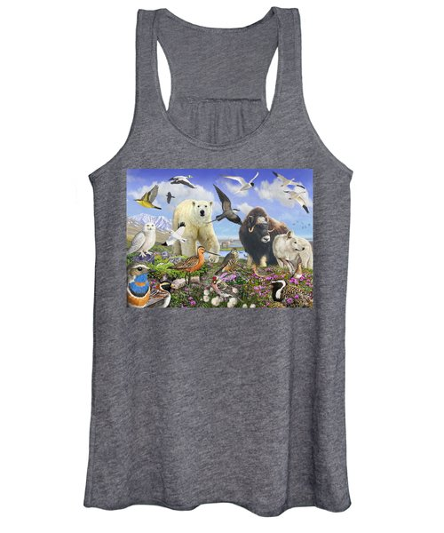 Arctic Birds And Wildlife Women's Tank Top