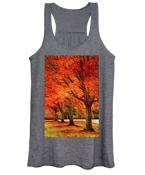 Artistic Four Fall Trees Women's Tank Top