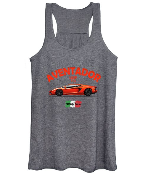 The Lamborghini Aventador Women's Tank Top
