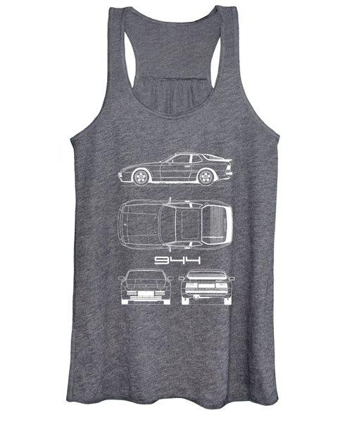 Porsche 944 Blueprint Women's Tank Top
