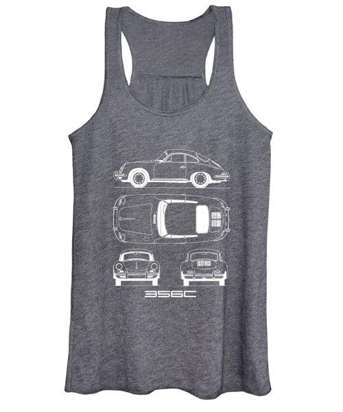 Porsche 356 C Blueprint Women's Tank Top