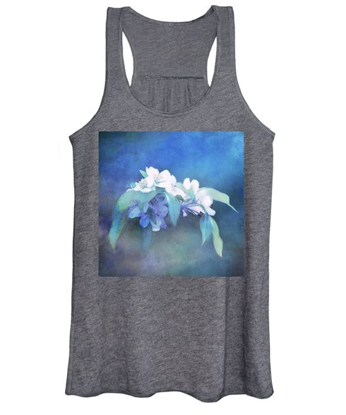 Painted Crabapple Blossoms Women's Tank Top