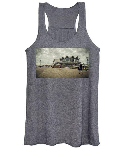 Asbury Park Boardwalk Looking South Women's Tank Top