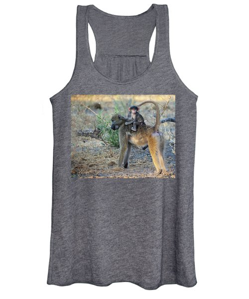 Baboon And Baby Women's Tank Top