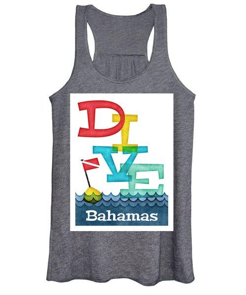 Bahamas Dive - Colorful Scuba Women's Tank Top