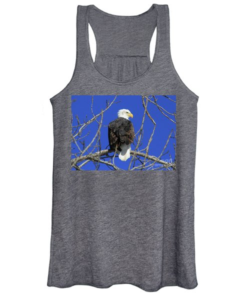 Bald Eagle And Blue Sky Women's Tank Top