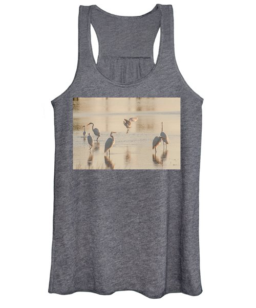 Ballet Of The Egrets Women's Tank Top