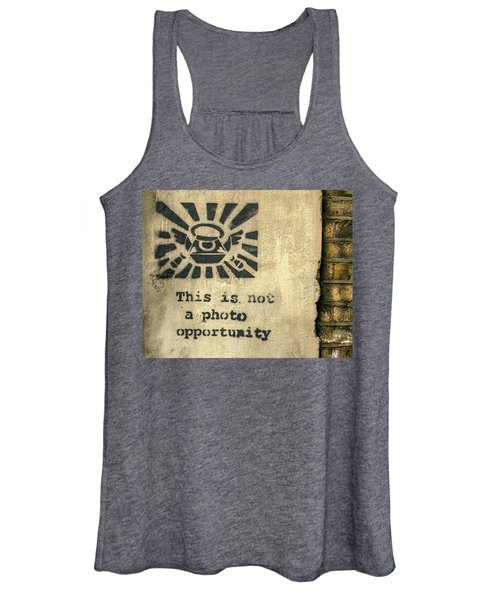 Banksy's This Is Not A Photo Opportunity Women's Tank Top