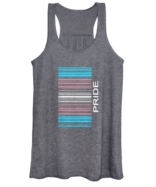 Barcode Transgender Pride Lgbtq Flag Trans Support Gifts T-shirt Women's Tank Top
