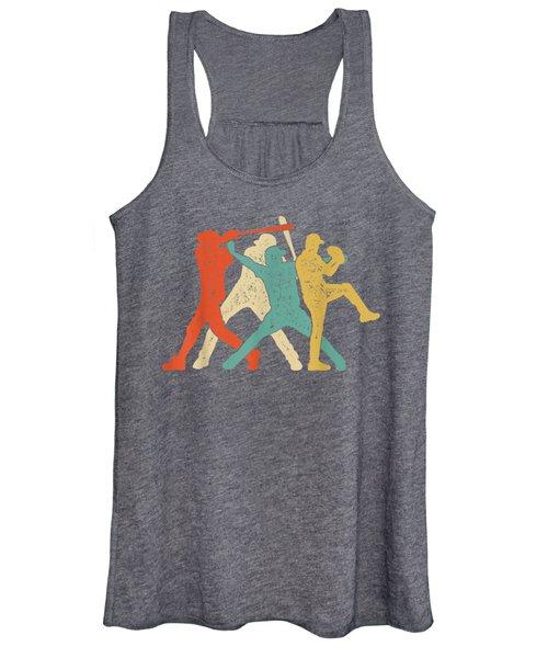 Baseball Retro Vintage T Shirt Catcher Pitcher Batter Boys Women's Tank Top