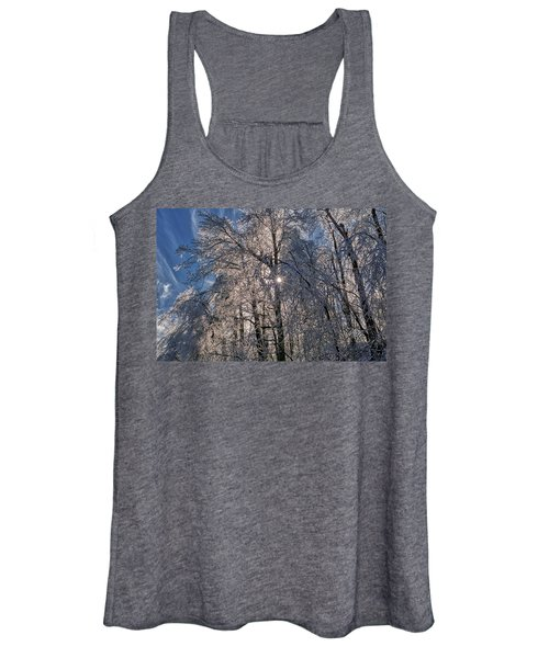 Bass Lake Trees Frozen Women's Tank Top