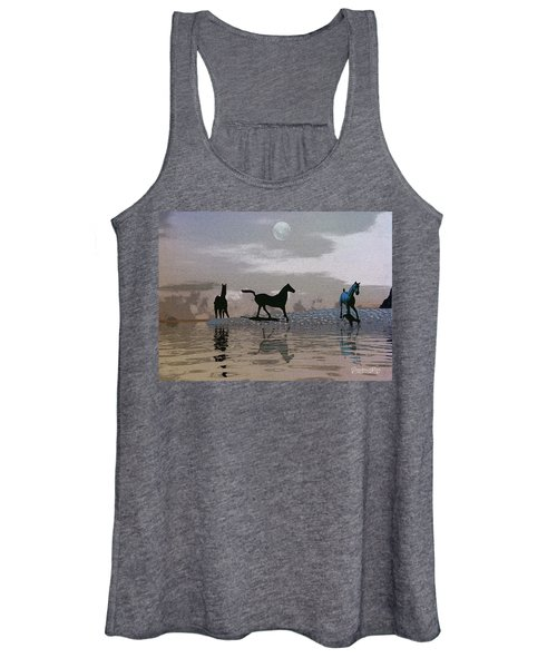 Beach Of Wild Horses Women's Tank Top