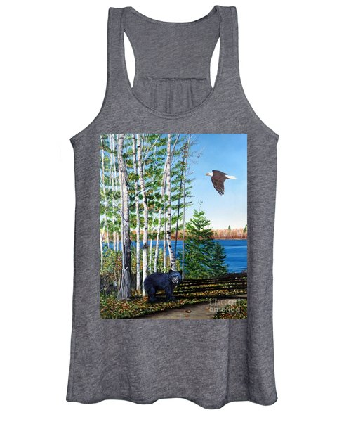 Little Bear And Eagle Wing Women's Tank Top