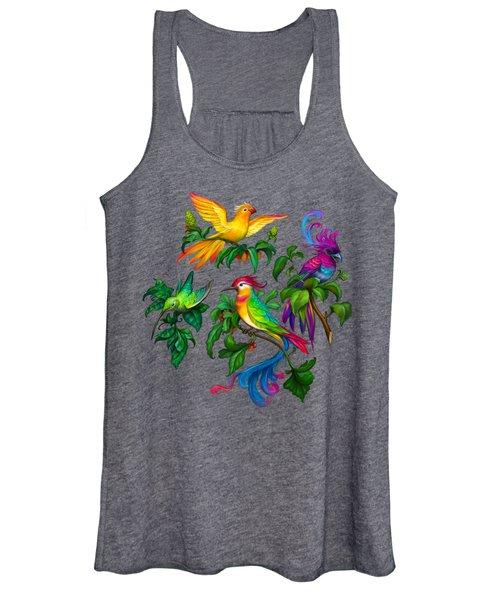 Beautiful Birdies  Exclusive Hi-res Pattern Women's Tank Top