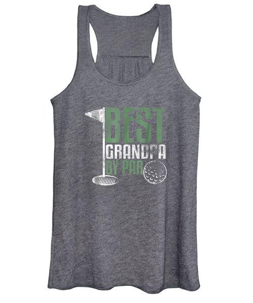 Best Grandpa By Par T-shirt Father's Day Golf Sports Tee Women's Tank Top
