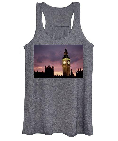 Big Ben Palace Of Westminster London Uk Women's Tank Top