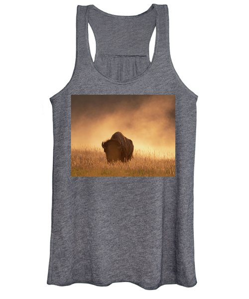 Bison In The Dust 2 Women's Tank Top