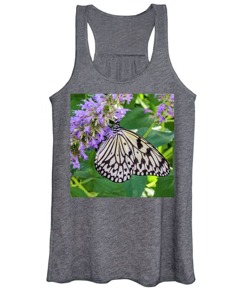 Black And White On Purple Women's Tank Top